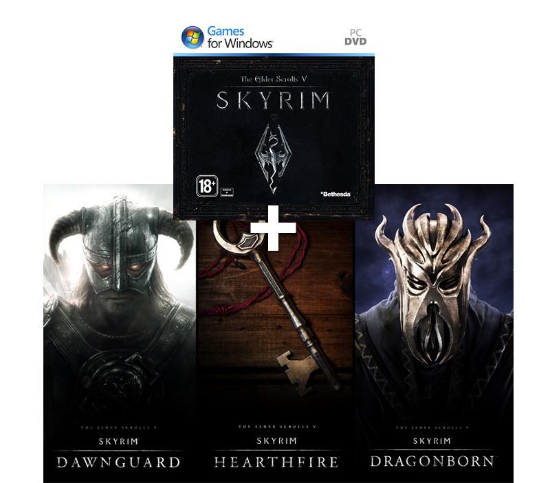 Купить Skyrim Legendary Edition ключ активации Steam. Состав издания Legendary Edition